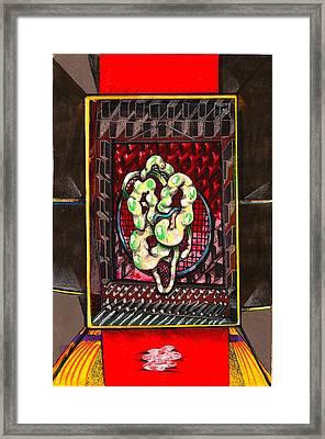 Composition Nine Framed Print by Al Goldfarb