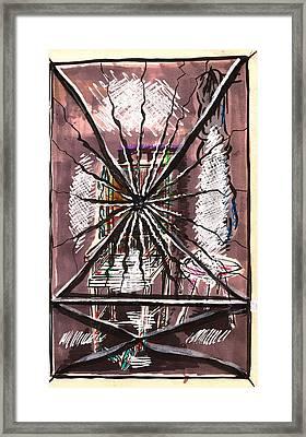 Composition Seven Framed Print by Al Goldfarb