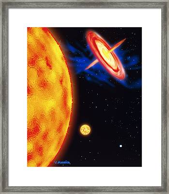 Computer Artwork Of Stages In A Star's Life Framed Print by Victor Habbick Visions