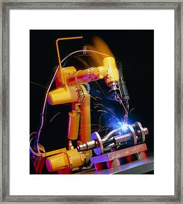 Computer-controlled Arc-welding Robot Framed Print by David Parker, 600 Group Fanuc