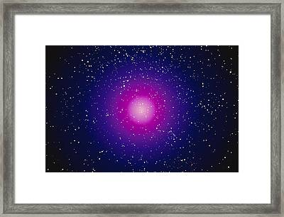 Computer Graphic Image Of A Galaxy Framed Print by Stocktrek