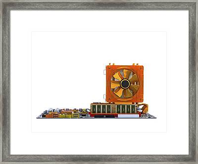 Computer Motherboard, Computer Artwork Framed Print by Pasieka