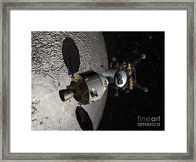 Concept Of The Orion Crew Exploration Framed Print by Stocktrek Images