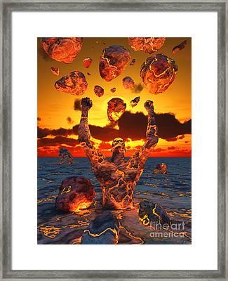 Conceptual Image Based On The Biblical Framed Print by Mark Stevenson