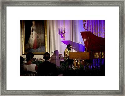 Concert Pianist Awadagin Pratt Performs Framed Print by Everett