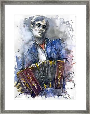 Concertina Player Framed Print by Yuriy  Shevchuk
