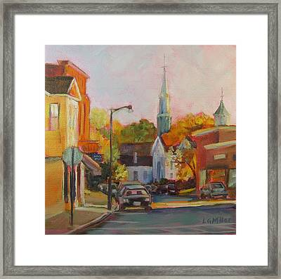 Concord Afternoon Framed Print by Laurie G Miller
