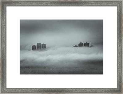 Concrete  Buildings Framed Print by Yiu Yu Hoi