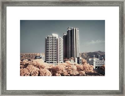 Concrete Highrise Buildings Framed Print by Yiu Yu Hoi