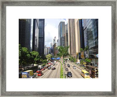 Hong Kong Framed Print featuring the photograph Concrete River by Roberto Alamino