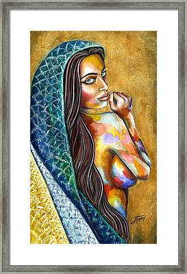 Concubine Framed Print by Jorge Namerow