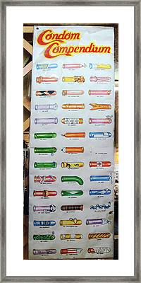 Condom Compendium Sign Thaiiland Framed Print by Sally Weigand