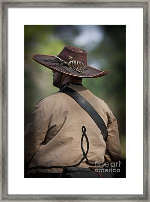 Confederate Cavalry Soldier Framed Print by Kim Henderson