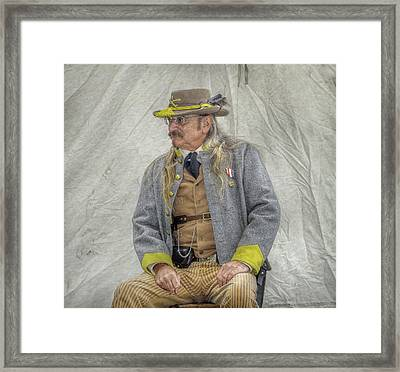 Confederate Veteran Portrait Framed Print by Randy Steele