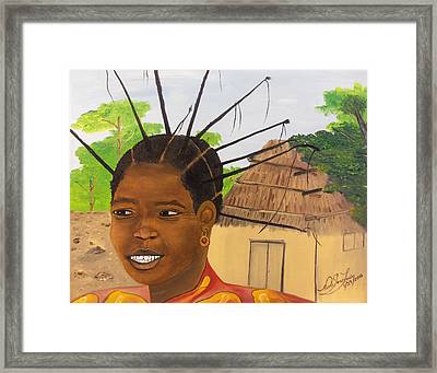 Congolese Woman Framed Print by Nicole Jean-Louis