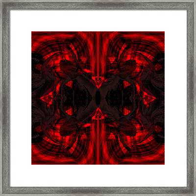 Conjoint - Crimson Framed Print by Christopher Gaston
