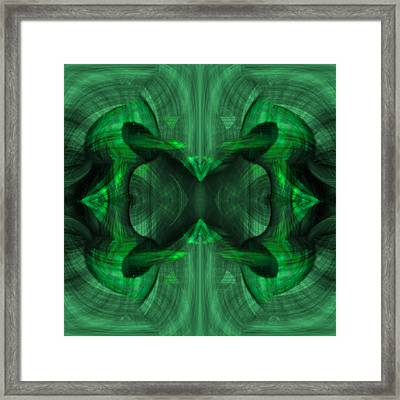 Conjoint - Emerald Framed Print by Christopher Gaston