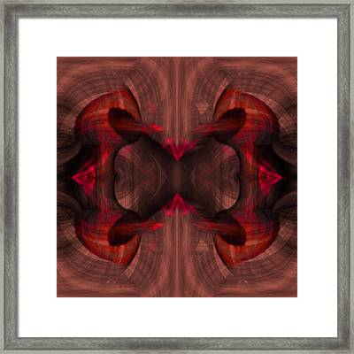 Conjoint - Ruby Framed Print by Christopher Gaston