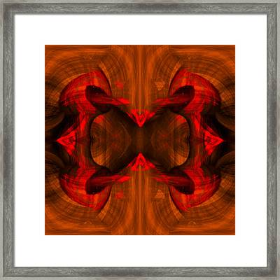 Conjoint - Rust Framed Print by Christopher Gaston