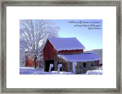 Connecticut Christmas Connecticut Usa Framed Print by Sabine Jacobs