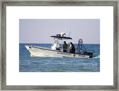Conservation Patrol Boat Framed Print by Christopher Purcell