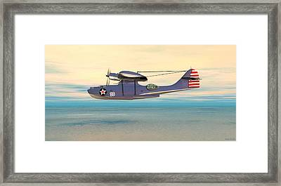 Consolidated Pby Catalina Framed Print by Walter Colvin