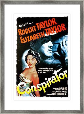 Conspirator, Elizabeth Taylor, Robert Framed Print by Everett
