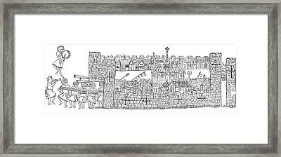 Constantinople, Procession At City Framed Print by Photo Researchers