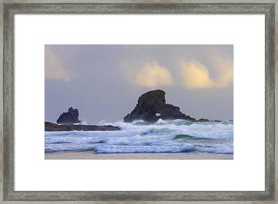 Consumed By The Sea Framed Print by Mike  Dawson