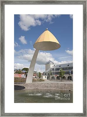 Contemporary Fountain Framed Print by Jaak Nilson