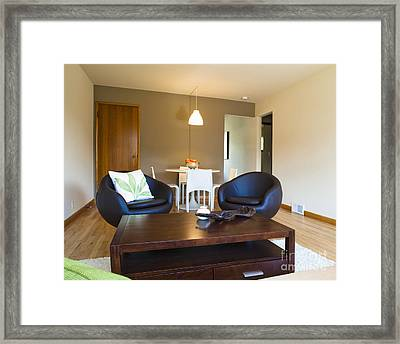 Contemporary Living Room Furniture Framed Print by Inti St. Clair