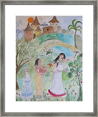 Contos De Fadas Framed Print by Sonali Gangane