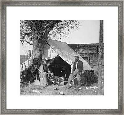 Contrabands Of The Union Army Framed Print by Everett