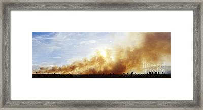 Controlled Burn Masai Mara Game Reserve Framed Print by Jeremy Woodhouse