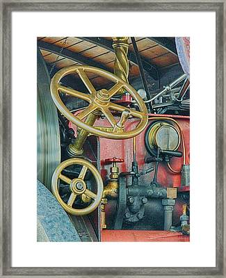 Controls Framed Print by Sharon Lisa Clarke