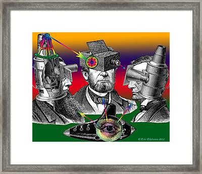 Conversation Of Sight Framed Print by Eric Edelman