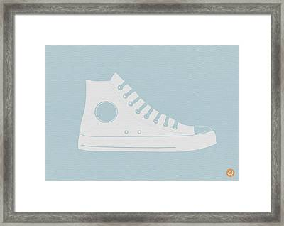 Converse Shoe Framed Print by Naxart Studio