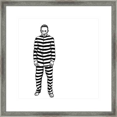Convict Framed Print by Karl Addison