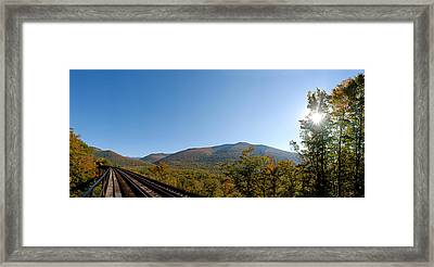 Conway Scenic Railroad - Short Framed Print by Geoffrey Bolte