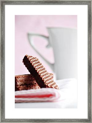 Cookies And Milk Framed Print by HD Connelly