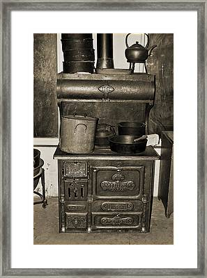 Cooking At The Old Jail Framed Print by DigiArt Diaries by Vicky B Fuller