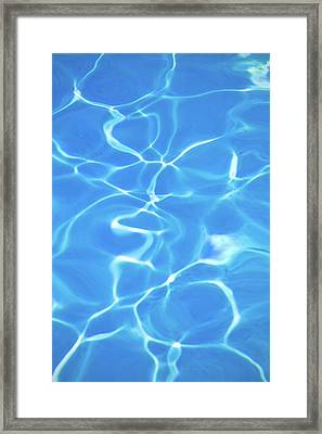 Cool Blue Pool Framed Print by Kelly Sillaste