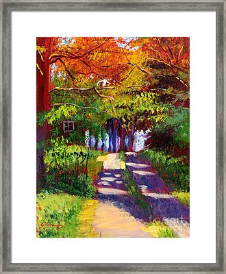 Cool Country Land Plein Air Framed Print by David Lloyd Glover