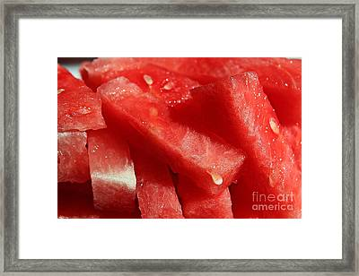 Cool Watermelon Wedges Framed Print by Barbara Griffin