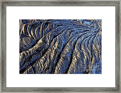 Cooled Pahoehoe Lava Flow Framed Print by Sami Sarkis