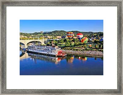 Coolidge Park During River Rocks Framed Print by Tom and Pat Cory