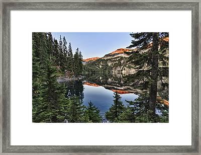 Copper Lake Framed Print by A A