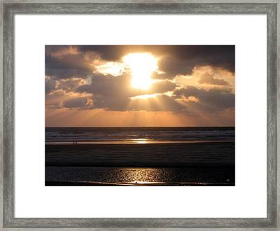 Copper Sunset Stroll Framed Print by Will Borden