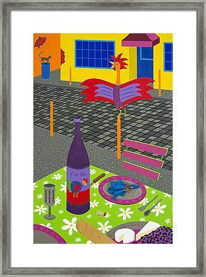 Coq Au Vin Framed Print by Kort Duce