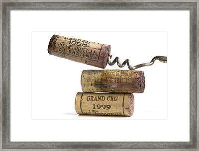 Cork Of French Wine Framed Print by Bernard Jaubert